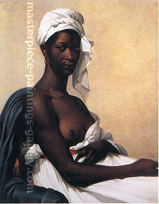 Marie-Guillemine Benoist, Portrait of a Negress, 1800, oil on canvas, 32 x 25.7 in. / 81 x 65 cm, US$325
