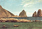 Albert Bierstadt, Capri, 1857, oil on canvas, 19.8 x 28.1 in. / 50.4 x 71.4 cm, US$350