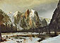 Albert Bierstadt, Cathedral Rocks, Yosemite Valley, California, 1872, oil on canvas, 18.7 x 25.8 in. / 47.5 x 65.6 cm, US$370