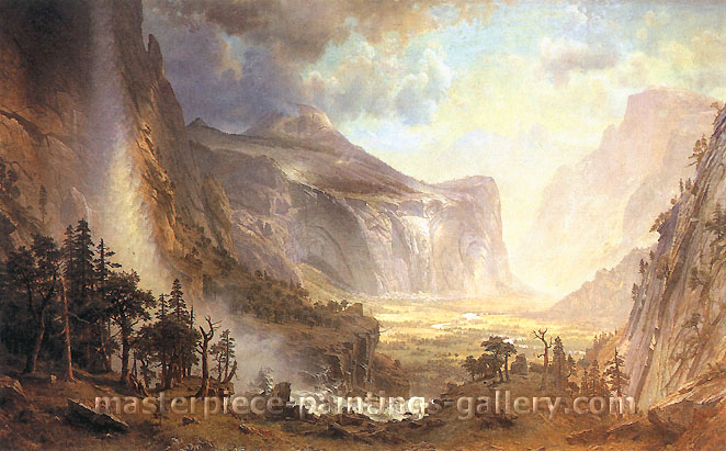 "Albert Bierstadt, Study for �The Domes of the Yosemite,"", 1863, oil on canvas, 26 x 20 in. / 66 x 50.8 cm, US$330"