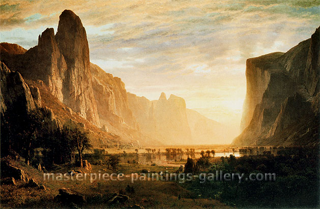 Albert Bierstadt, Looking Down Yosemite Valley, California, 1865, oil on canvas, 32 x 48.1 in. / 81.3 x 122.3 cm, US$675
