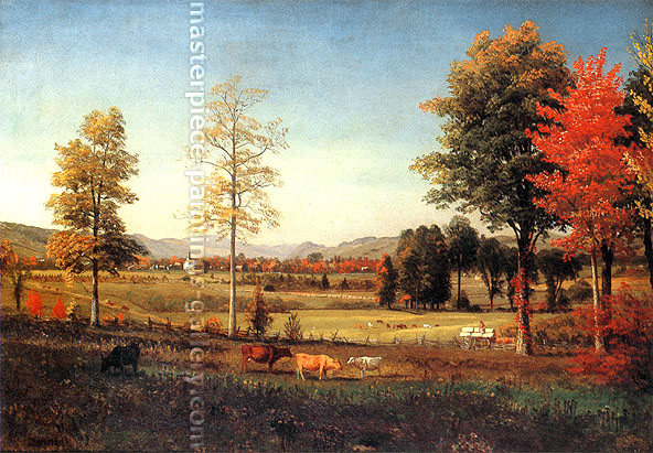 Albert Bierstadt, Eastern Landscape, 1859, oil on canvas, 20 x28 in. / 50.8 x 71.1 cm, US$350