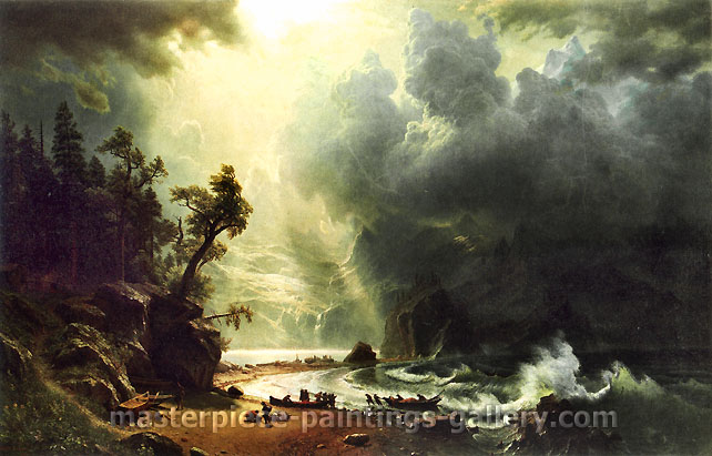 Albert Bierstadt, Puget Sound, on the Pacific Coast, 1870, oil on canvas, 31.5 x 49.2 in. / 80 x 125 cm, US$690