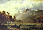 Albert Bierstadt, The Sierras near Lake Tahoe, California, 1865, oil on canvas, 20.2 x 27.3 in. / 51.2 x 69.3 cm, US$380