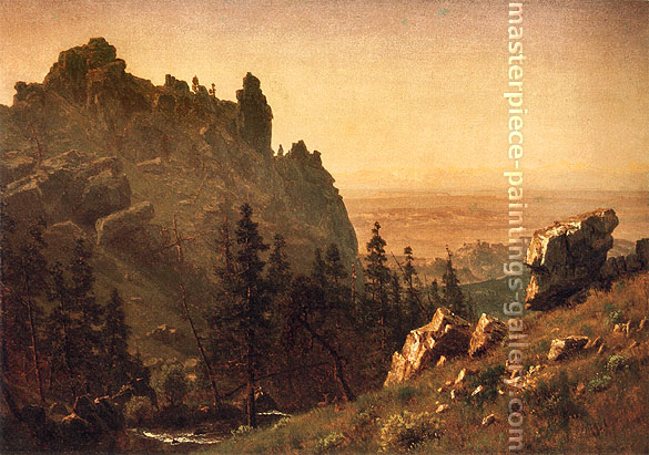 Albert Bierstadt, Wind River Country, 1859, oil on canvas, 19.5 x 27.8 in. / 49.5 x 70.5 cm, US$350