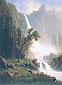 Albert Bierstadt, Bridal Veil Falls, Yosemite, 1871, oil on canvas, 36.1 x 26.4 in. / 91.8 x 67 cm, US$500