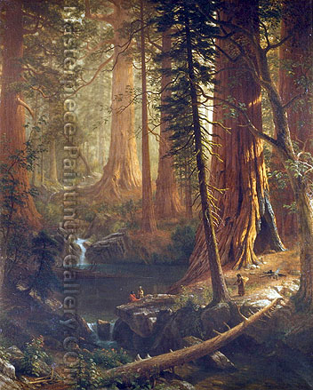 Albert Bierstadt, Giant Redwoods of California, 1874, oil on canvas, 35.4 x 29 in. / 90 x 73.7 cm, US$1200