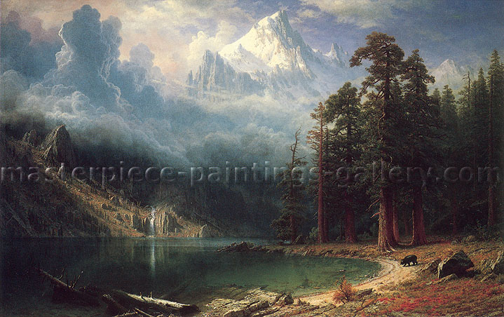 Albert Bierstadt, Mount Corcoran, 1876, oil on canvas, 24 x 37.9 in. / 61 x 96.3 cm, US$600