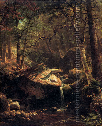 Albert Bierstadt, Mountain Brook, 1863, oil on canvas, 44 x 36 in. / 111.8 x 91.4 cm, US$650