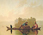 George Caleb Bingham, Fur Traders Descending the Missouri, 1845, oil on canvas, 29.1 x 36.6 in. / 74 x 93 cm, US$350