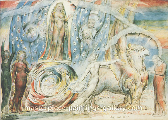 William Blake, Beatrice Addressing Dante, 1824-27, oil on canvas, 22.4 x 32 in. / 56.8 x 81.3 cm, US$350