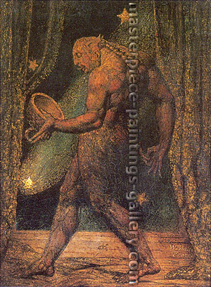 William Blake, Ghost of a Flea, 1819, oil on canvas, 32 x 24.7 in. / 81.3 x 62.8 cm, US$360