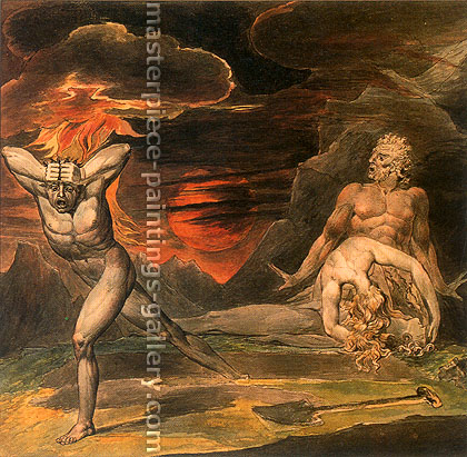 William Blake, The Body of Abel Found by Adum and Eve 2, 1826, oil on canvas, 31.5 x 31.2 in. / 80 x 79.3 cm, US$320