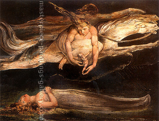 William Blake, Pity, 1795, oil on canvas, 32 x 24.5 in. / 81.3 x 62.3 cm,US$330