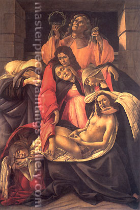 Sandro Botticelli, Lamentation over The Dead Christ, 1495, oil on canvas, 32 x 24 in. / 81.3 x 61 cm, US$500