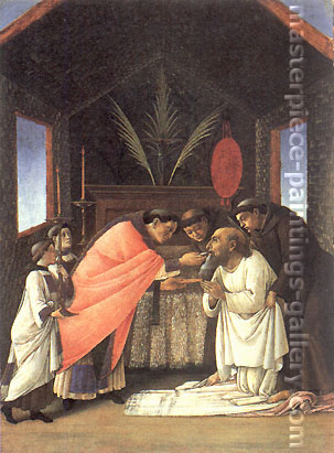 Sandro Botticelli, The Last Communion of St.Jerome, 1495, oil on canvas, 32 x 24 in. / 81.3 x 61 cm, US$480