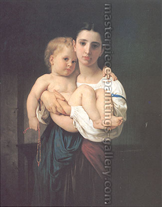 Adolphe William Bouguereau, The Elder Sister (undated), oil on canvas, 21.9 x 17.9 in. / 55.5 x 45.5 cm, US$330