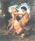 Adolphe-William Bouguereau, Idyll: Family from Antiquity, 1860, oil on canvas, 23.5 x 19 in. / 59.7 x 48.3 cm, US$400