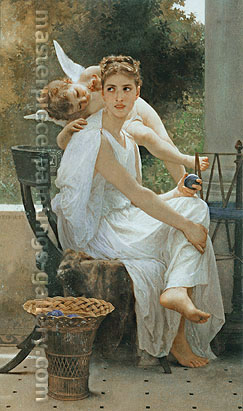 Adolphe-William Bouguereau, Work Interrupted, 1891, oil on canvas, 48.3 x 39.4 in. / 122.7 x 100.1 cm, US$675