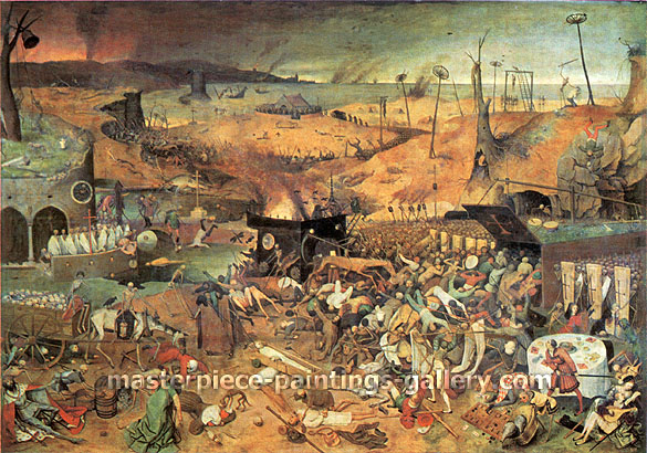 Pieter Bruegel the Elder, The Triumph of Death, 1562, oil on canvas, 25.3 x 36 in. / 64.3 x 91.4 cm, US$620