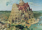 Pieter Bruegel, The Tower of Babel | The Large Tower of Babel, 1563, oil on canvas, 44.9 x 61 in. / 114 x 155 cm, US$850