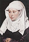 Robert Campin, A Woman, 1430, oil on canvas, 16.1 x 11 in. / 41 x 28 cm, US$320