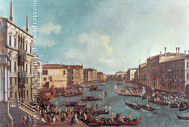 Canaletto, Regatta on the Grand Canal, 1735-40, oil on canvas, 19.8 x 30 in. / 50.4 x 76.2 cm, US$500