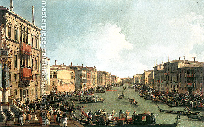Canaletto, Regatta on the Grand Canal, 1733-34, oil on canvas, 30.4 x 49.5 in. / 77.2 x 125.7 cm, US$750