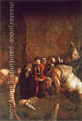Michelangelo Merisi da Caravaggio, The Burial of St. Lucy, 1608, oil on canvas, 56.2 x 41.3 in. / 142.8 x 105 cm, US$640