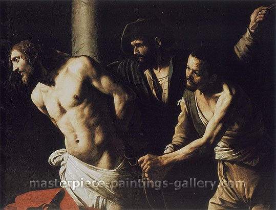 Michelangelo Merisi da Caravaggio, Christ at the Column, 1606, oil on canvas, 42.4 x 55.3 in. / 107.6 x 140.4 cm, US$560