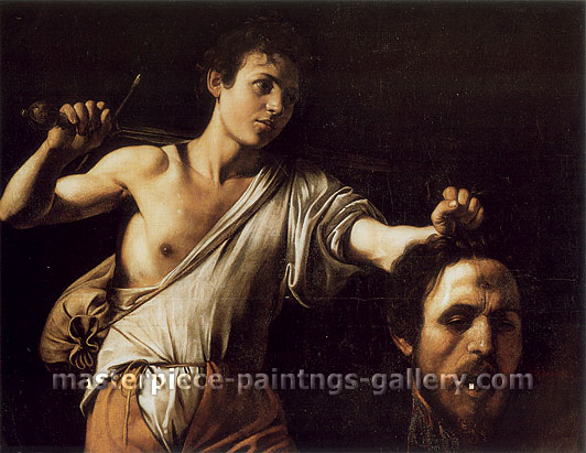 Michelangelo Merisi da Caravaggio, David with the Head of Goliath, 1605, oil on canvas, 35.6 x 45.9 in. / 90.5 x 116.5 cm, US$580
