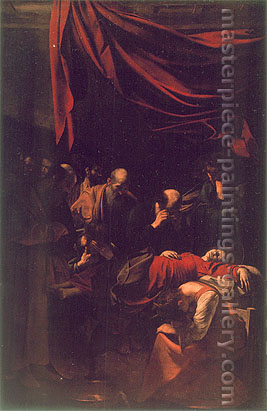 Michelangelo Merisi da Caravaggio, The Death of the Virgin, 1601-02, oil on canvas, 58.1 x 38.6 in. / 147.6 x 98 cm, US$590