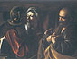 Michelangelo Merisi da Caravaggio, The Denial of St. Peter, 1606, oil on canvas, 37 x 49.4 in. / 94 x 125.5 cm, US$570