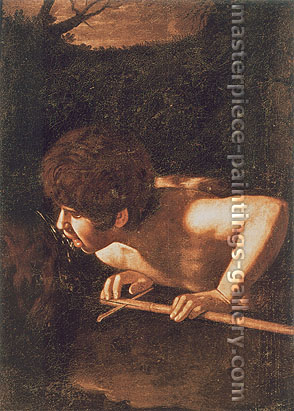 Michelangelo Merisi da Caravaggio, St. John the Baptist at the Well, 1607-08, oil on canvas, 28.7 x 39.4 in. / 73 x 100 cm, US$400