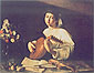 Michelangelo Merisi da Caravaggio, The Lute Player | Youth with a Lute, 1595, oil on canvas, 37 x 46.9 in. / 94 x 119 cm, US$570