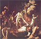 Michelangelo Merisi da Caravaggio, The Martyrdom of St. Matthew, 1601, oil on canvas, 38.1 x 40.5 in. / 96.9 x 102.9 cm, US$410