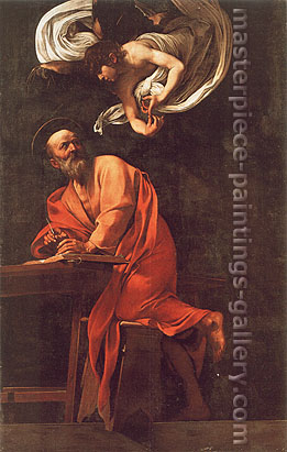 Michelangelo Merisi da Caravaggio, St. Matthew and the Angel, 1602, oil on canvas, 46.5 x 30.7 in. / 118 x 78 cm, US$500