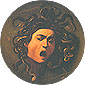Michelangelo Merisi da Caravaggio, Head of Medusa, 1595, oil on canvas, 23.6 x 23.6 in. / 60 x 60 cm, US$270