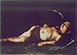 Michelangelo Merisi da Caravaggio, Sleeping Cupid, 1605-10, oil on canvas, 28.3 x 41.3 in. / 72 x 105 cm, US$420