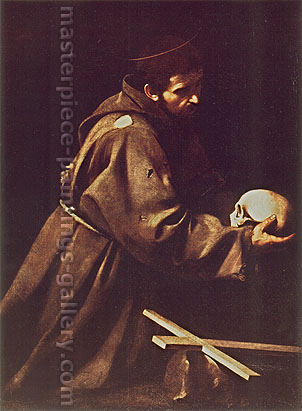 Michelangelo Merisi da Caravaggio, St. Francis 1605, 1605, oil on canvas, 50.4 x 37.0 in. / 128 x 94 cm, US$510