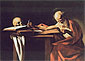 Michelangelo Merisi da Caravaggio, St. Jerome, 1606, oil on canvas, 44.1 x 61.8 in. / 112 x 157 cm, US$630