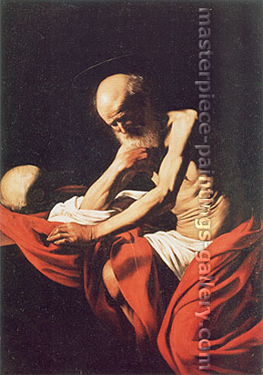 Michelangelo Merisi da Caravaggio, St. Jerome, 1606, oil on canvas, 46.5 x 31.9 in. / 118 x 81 cm, US$470