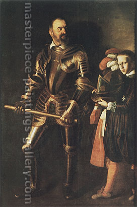 Michelangelo Merisi da Caravaggio, Portrait of Alof de Wignacourt with a Page-Boy, 1608, oil on canvas, 61.4 x 42.2 in. / 156 x 107.2 cm, US$700