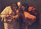 Michelangelo Merisi da Caravaggio, The Doubting of St. Thomas, 1600, oil on canvas, 33.7 x 46 in. / 85.6 x 116.8 cm, US$525