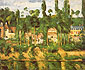 Paul Cezanne, The Chateau de Medan, 1879, oil on canvas 23.2 x 28.3 in. / 59 x 72 cm