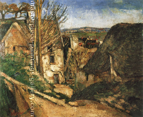Paul Cézanne, The House of the Hanged Man at Auvers | La Maison du Pendu a Auvers, 1872-73, oil on canvas, 27.9 x 33.4 in. / 70.8 x 84.8 cm, US$300