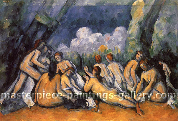 Paul Cezanne, The (10) Large Bathers, 1900-1905, oil on canvas, 21.3 x 32 in. / 54.2 x 81.3 cm, US$265