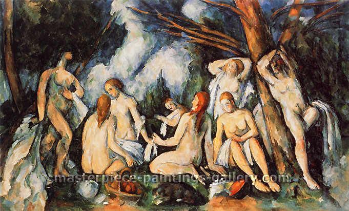 Paul Cézanne, The Large Bathers | Grandes Baigneuses, 1900-1905, oil on canvas, 42.9 x 66.8 in. / 109.1 x 169.7 cm, US$600