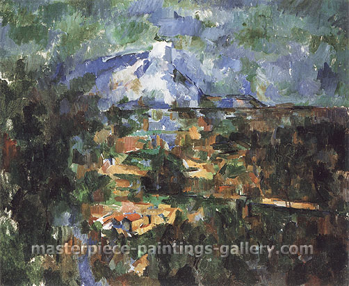 Paul Cézanne, Mont Saint-Victoire seen from Les Lauves 3, 1904-06, oil on canvas, 23.6 x 28.7 in. / 60 x 73 cm, US$330
