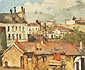 Paul Cézanne, Roofs | Les toits, 1877, oil on canvas, 22.2 x 27.9 in. / 56.4 x 70.9 cm, US$250
